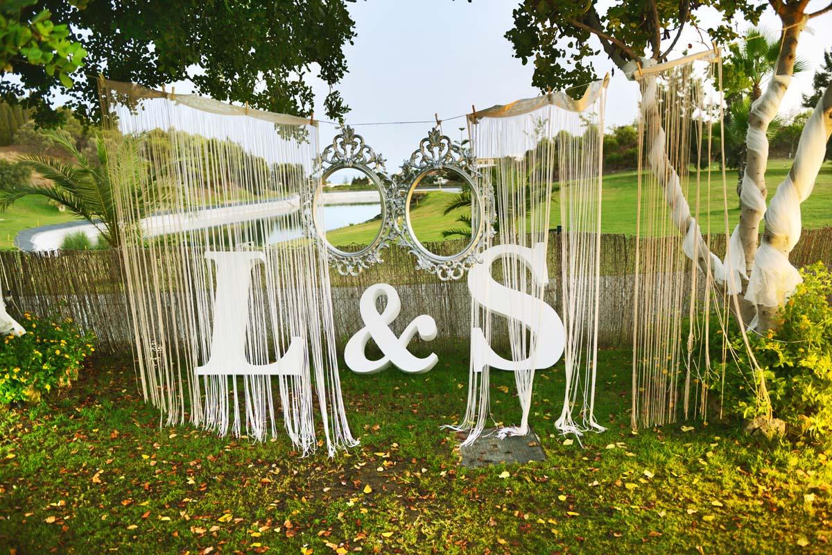 photocall para bodas marbella