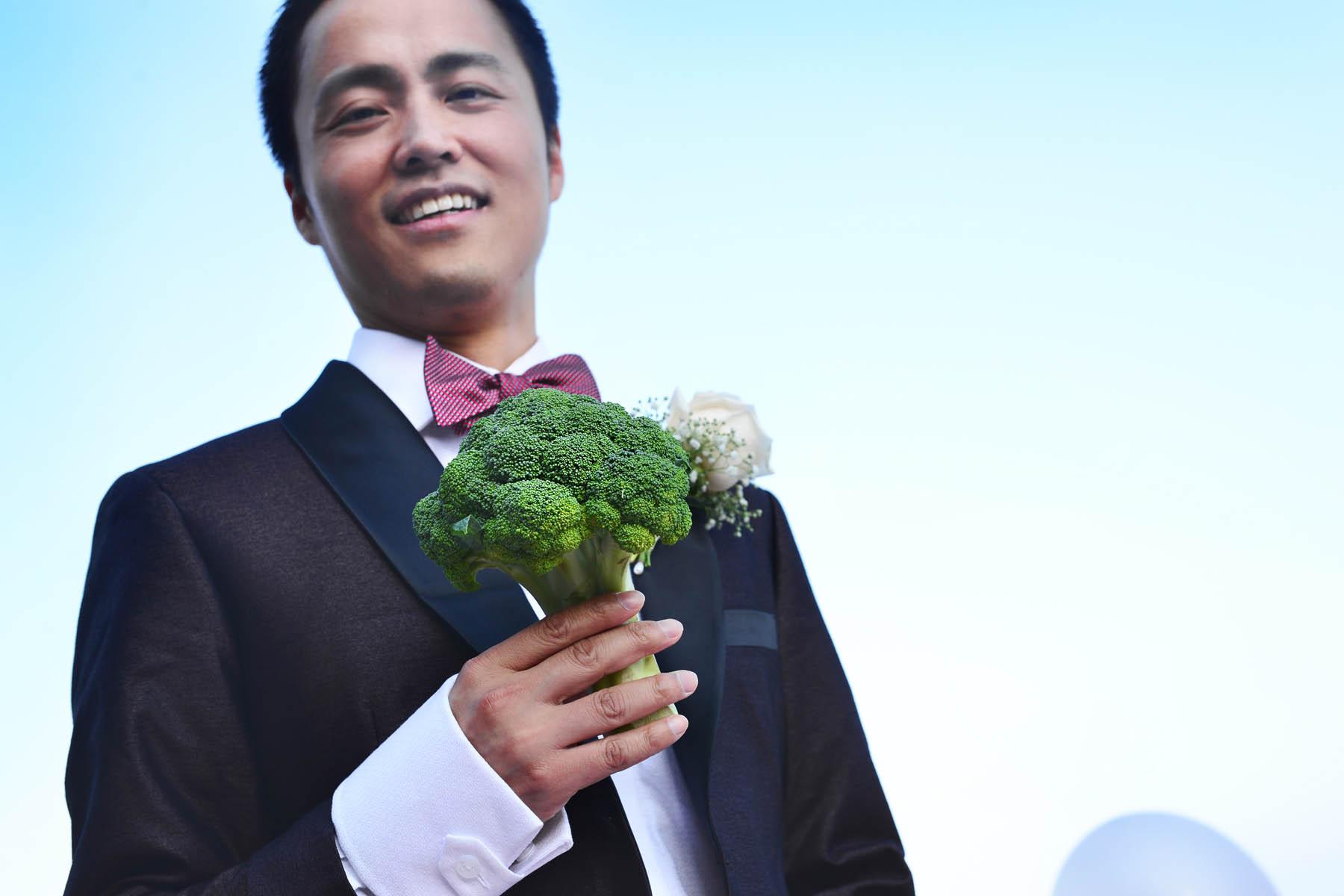 boda con broccoli