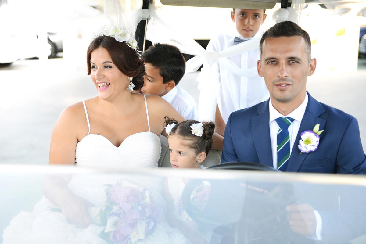 fotos de boda en campos de golf