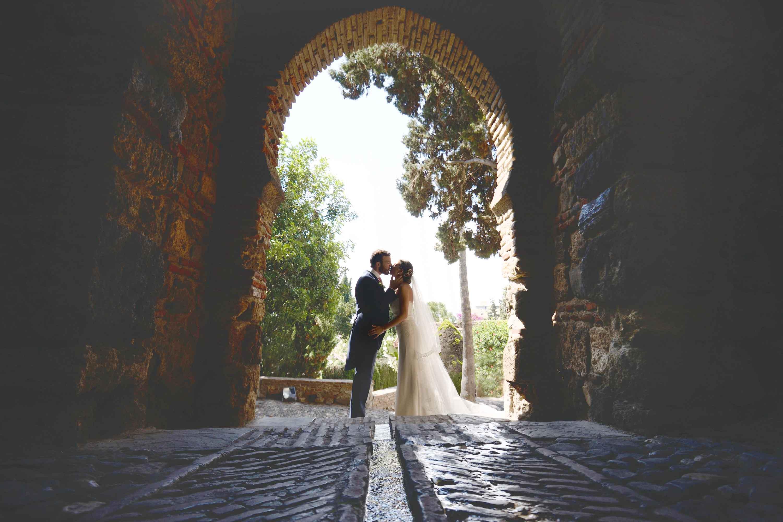 alcazaba de malaga reportaje de boda